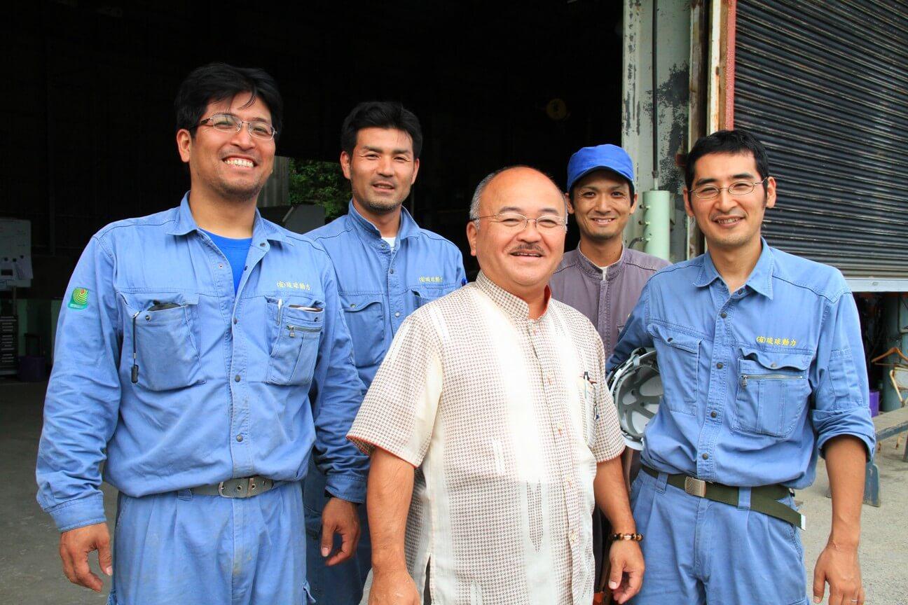琉球動力社長と若きリーダーたち